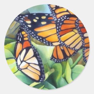 Pegatinas, redondo/migración del monarca pegatinas redondas