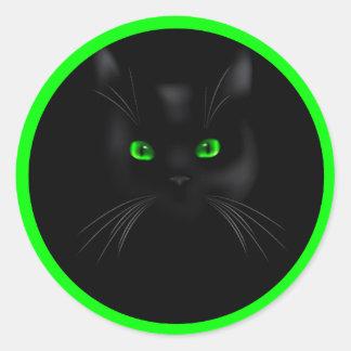 Pegatinas redondos clásicos de los ojos verdes del pegatina redonda