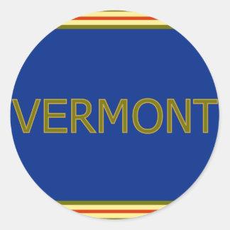 Pegatinas redondos clásicos de Vermont Pegatina Redonda