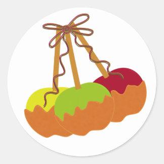 Pegatinas redondos de Apple de caramelo