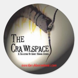 Pegatinas redondos de Crawlspace (hoja de 6) Pegatina Redonda