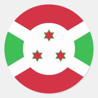 Pegatinas redondos de la bandera de Burundi Pegatina Redonda