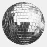 Pegatinas redondos de la bola de discoteca