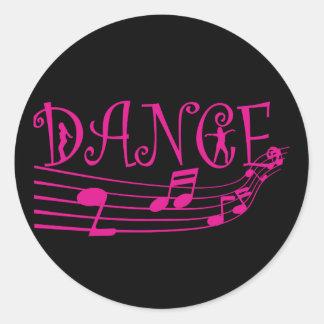 Pegatinas redondos de la promoción de la danza pegatina redonda