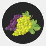 Pegatinas redondos de la uva