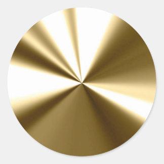 Pegatinas redondos de los sellos del oro brillante pegatina redonda