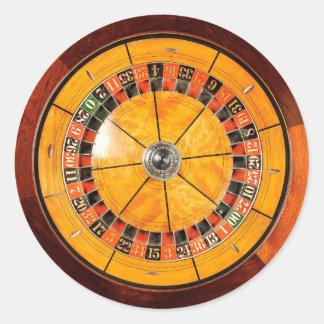 Pegatinas redondos de madera clásicos de la rueda pegatina redonda