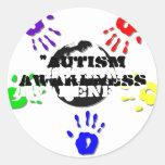 Pegatinas redondos del autismo