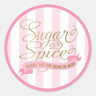 Pegatinas redondos del azúcar y de la especia pegatina redonda
