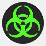 Pegatinas redondos del Biohazard