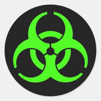 Pegatinas redondos del Biohazard Pegatina Redonda