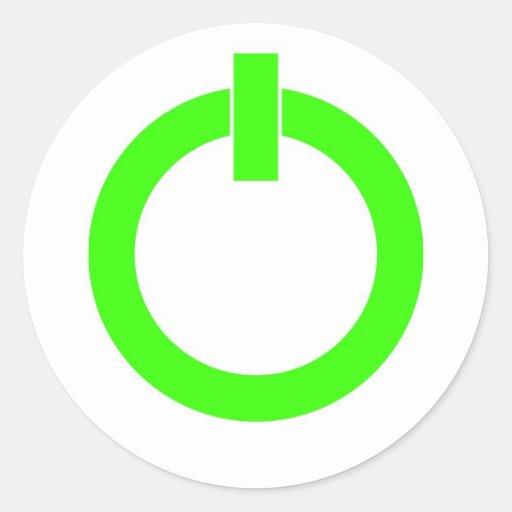 Pegatinas redondos del botón de encendido pegatina redonda