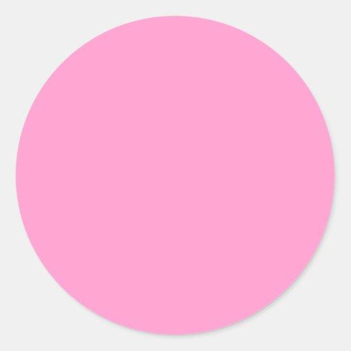 Pegatinas redondos del color sólido, rosados pegatina redonda