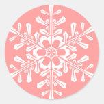 Pegatinas redondos del copo de nieve adaptable etiquetas redondas