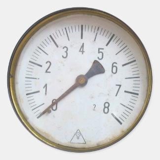 Pegatinas redondos del dial del metro de la pegatinas redondas