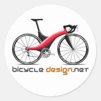 Pegatinas redondos del diseño de la bicicleta pegatina redonda