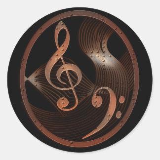 Pegatinas redondos del diseño de la música de pegatina redonda