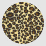 Pegatinas redondos del estampado leopardo