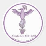 Pegatinas redondos del falange de Phoenix Pegatina Redonda