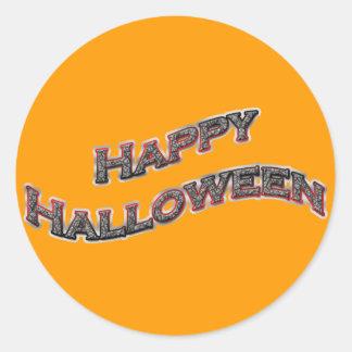 Pegatinas redondos del feliz Halloween Pegatina Redonda