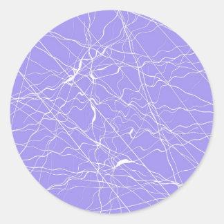 Pegatinas redondos del hielo violeta pegatina redonda
