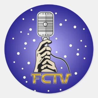 Pegatinas redondos del logotipo de FCTV Pegatina Redonda