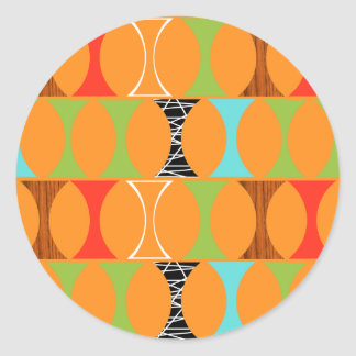 Pegatinas redondos del modelo anaranjado moderno pegatina redonda
