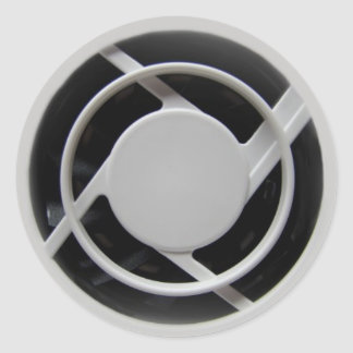 Pegatinas redondos del ventilador de la pegatina redonda