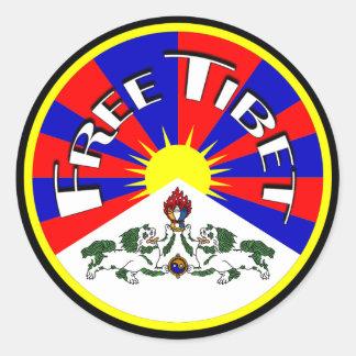 Pegatinas redondos libres de Tíbet Pegatina Redonda