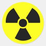 Pegatinas redondos radiactivos