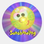 Pegatinas redondos - Sunshineling
