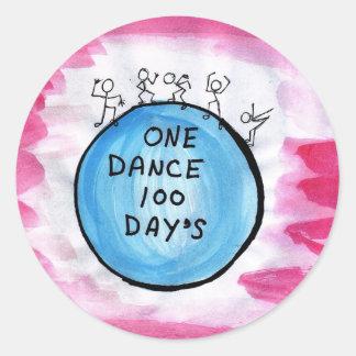 Pegatinas redondos un día de la danza 100 pegatina redonda