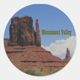 Pegatinas redondos x20 de Utah del valle del Pegatina Redonda