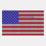 Pegatinas relucientes de la bandera americana