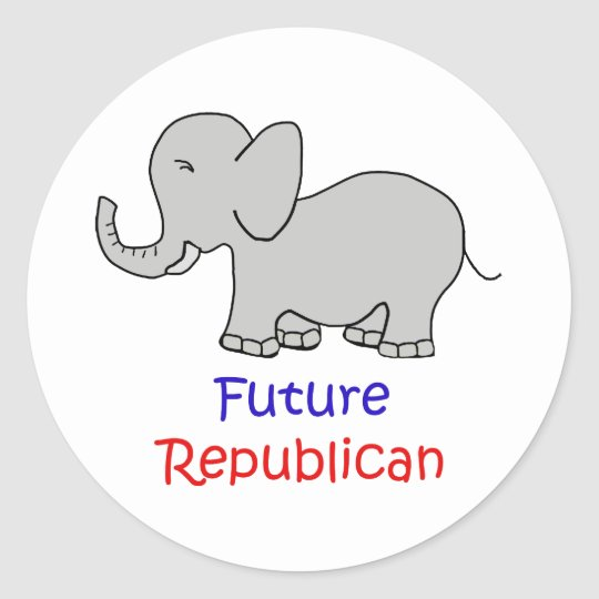 Pegatinas republicanos futuros pegatina redonda