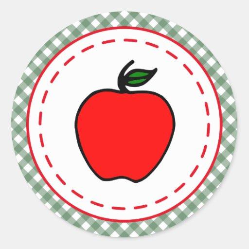 Pegatinas retros de Apple Pegatina Redonda
