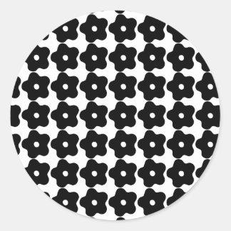 Pegatinas retros de la flor pegatina redonda