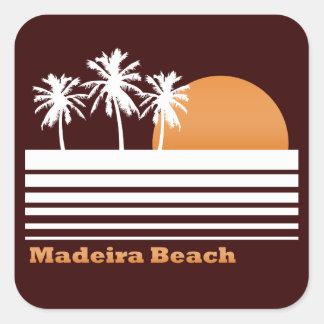 Pegatinas retros de la playa de Madeira