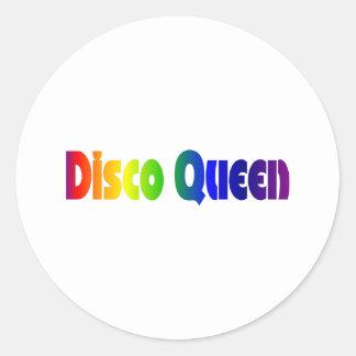 Pegatinas retros de la reina del disco pegatina redonda