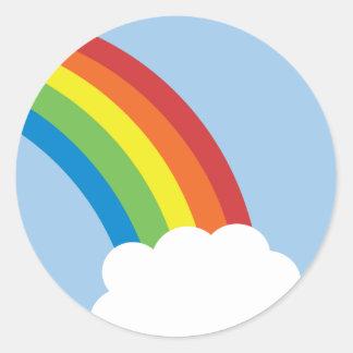 pegatinas retros del arco iris de los años 80 pegatina redonda
