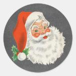 Pegatinas retros del navidad de la pizarra de Papá Pegatina Redonda