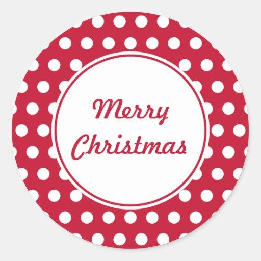 Pegatinas retros del navidad del punto pegatinas redondas