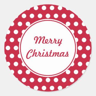 Pegatinas retros del navidad del punto pegatina redonda