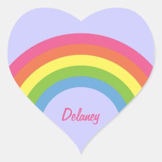 pegatinas retros del nombre del corazón del arco pegatina de corazon personalizadas