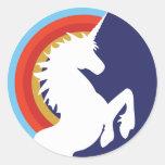 pegatinas retros del unicornio y del arco iris de
