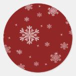 Pegatinas rojos/blancos del modelo 1 del copo de etiquetas redondas