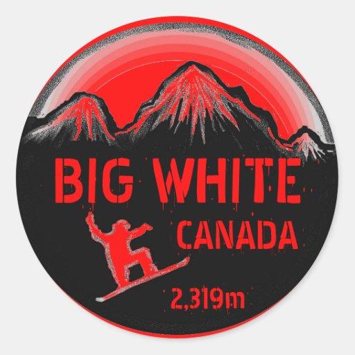Pegatinas rojos blancos grandes del arte de la sno