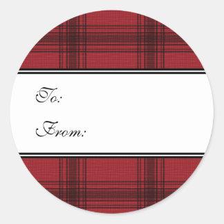 Pegatinas rojos de la etiqueta del regalo de