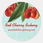 Pegatinas rojos de la etiqueta del regalo del