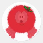Pegatinas rojos de Pom Pom PAL del arco del acebo